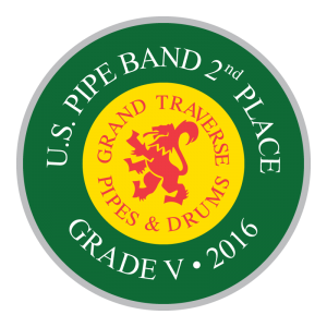 Grand Traverse Pipes & Drums US Pipe Band Open 2nd Place 2016